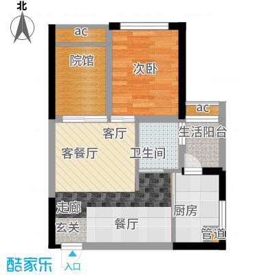 枫丹树语城4.50㎡5号楼45号户面积3825m户型