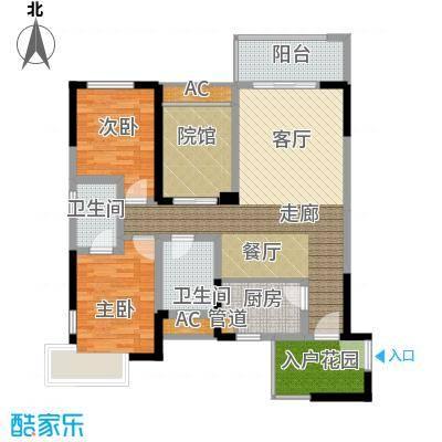 隆鑫国际81.53㎡2号楼4、7号房面积8153m户型