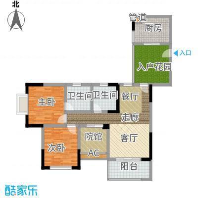 隆鑫国际84.86㎡4号楼1、3号房面积8486m户型