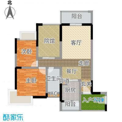 隆鑫国际80.86㎡(二期)1栋3号房面积8086m户型