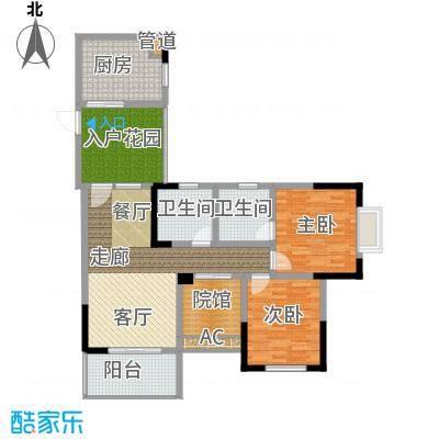 隆鑫国际86.60㎡2号楼1、3号房面积8660m户型