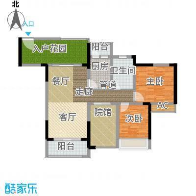 隆鑫国际85.25㎡(二期)1栋7号房面积8525m户型