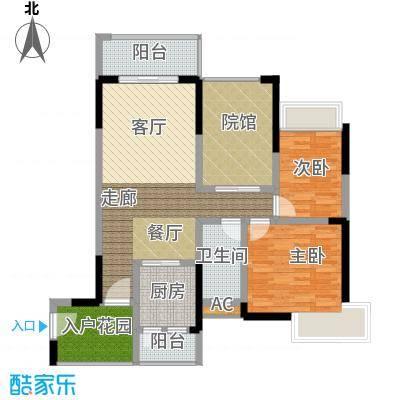 隆鑫国际80.86㎡(二期)1栋6号房面积8086m户型