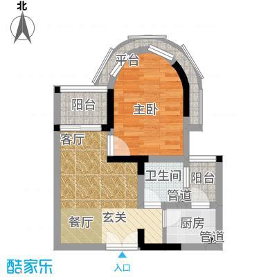 华宇西城丽景36.44㎡3号房3-16层面积3644m户型
