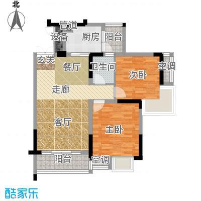 华宇西城丽景68.99㎡B5号楼面积6899m户型