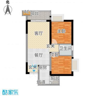 顺祥壹街区63.49㎡A3-3已售罄2面积6349m户型