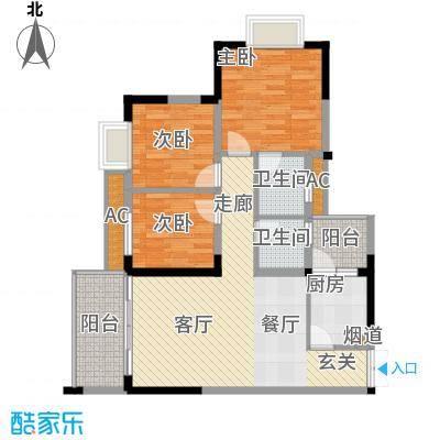 顺祥壹街区78.75㎡A6-2(二期)已面积7875m户型