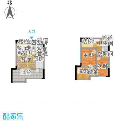 财信城市国际85.08㎡一期8号楼7面积8508m户型