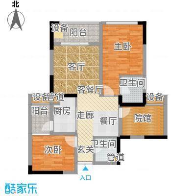 财信城市国际75.34㎡一期8号楼2面积7534m户型