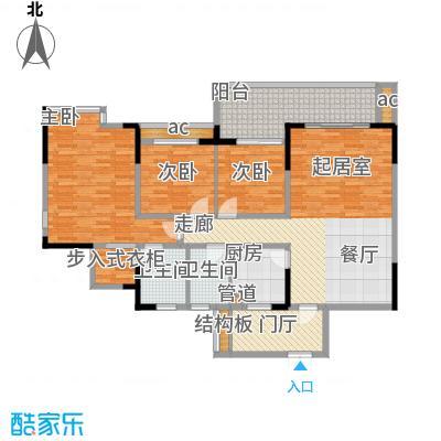 中凯翠海朗园119.61㎡6、7号A面积11961m户型