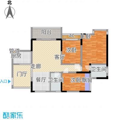 中凯翠海朗园104.40㎡6、7号B面积10440m户型