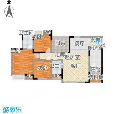 中凯翠海朗园99.38㎡5、8#-B面积9938m户型