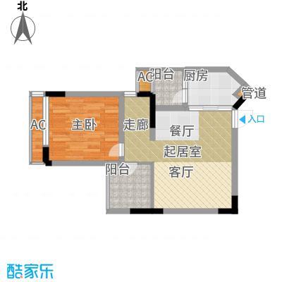 金科绿韵康城45.66㎡22-23号楼D面积4566m户型