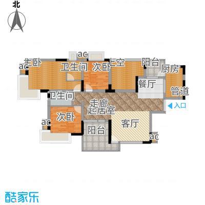 金科绿韵康城111.55㎡15号楼1、2面积11155m户型