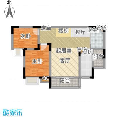 金科绿韵康城77.99㎡16、18号楼面积7799m户型