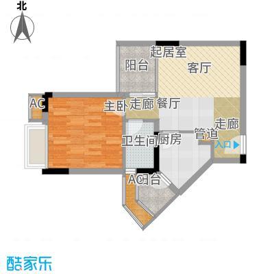 金科绿韵康城45.52㎡22-23号楼C面积4552m户型