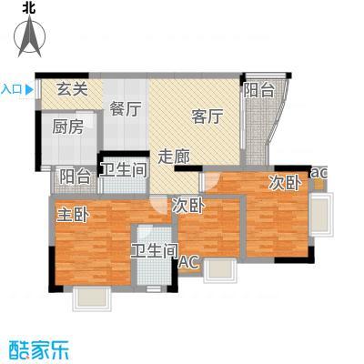 青河世家88.08㎡9号楼5号房面积8808m户型