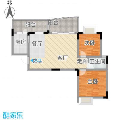 回龙湾小区78.85㎡二单元1号房2面积7885m户型