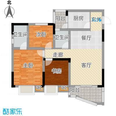 青河世家80.58㎡9号楼3号房面积8058m户型