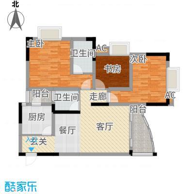 青河世家87.98㎡9号楼7号房面积8798m户型