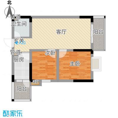 回龙湾小区60.48㎡F1B栋27号面积6048m户型