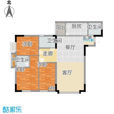 嘉华鑫城107.10㎡3面积10710m户型