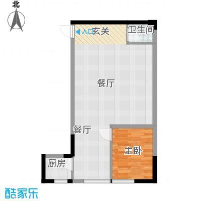 嘉华鑫城51.50㎡8面积5150m户型