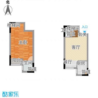 嘉华鑫城52.60㎡小跃面积5260m户型