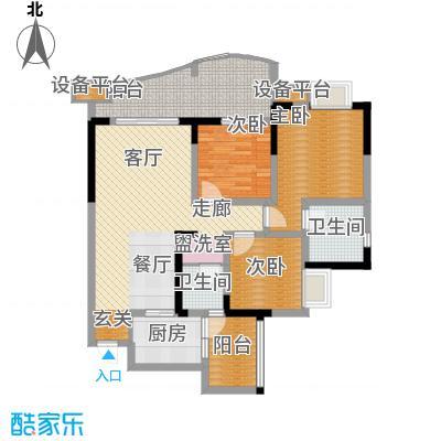 保利心语花园112.00㎡面积11200m户型