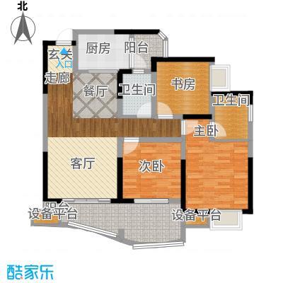 保利心语花园92.11㎡一期9号楼C面积9211m户型