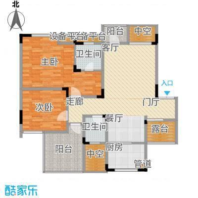 聚义香城故事88.71㎡一期标准层面积8871m户型