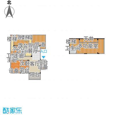 聚义香城故事181.86㎡一期标准层面积18186m户型