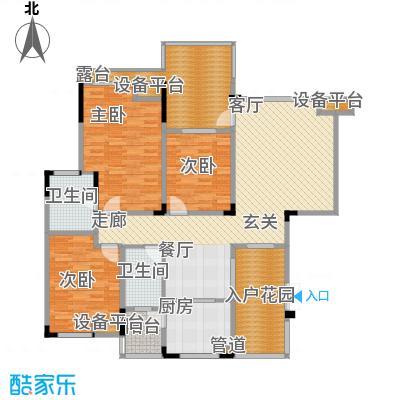 聚义香城故事107.97㎡一期标准层面积10797m户型