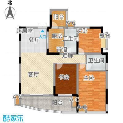 东方港湾108.30㎡B10-3、4号面积10830m户型