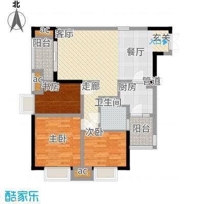 协信天骄城75.76㎡四期13号楼标面积7576m户型