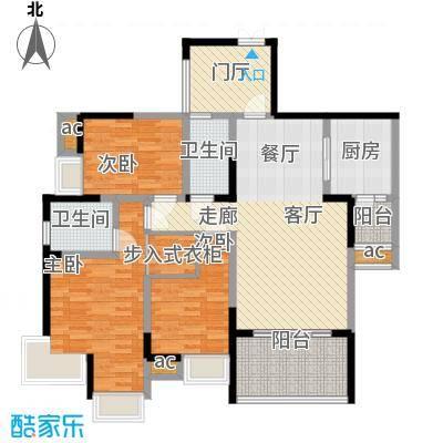 协信天骄城114.49㎡二期1号楼标准面积11449m户型