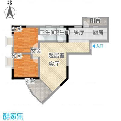 巴蜀怡苑77.50㎡A-21面积7750m户型
