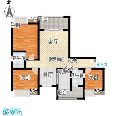 朵力尚美国际91.98㎡7幢楼1单元面积9198m户型
