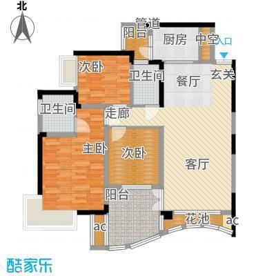 华宇渝州新都103.00㎡9号楼B座4号面积10300m户型