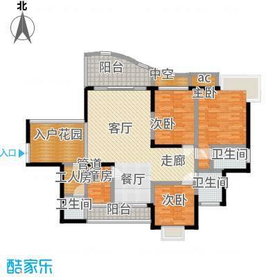 华宇渝州新都128.00㎡9号楼B座2号面积12800m户型