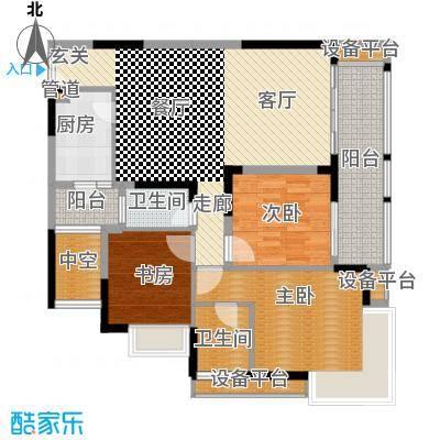 金辉苹果城100.54㎡7号楼C3面积10054m户型