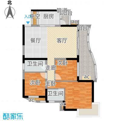 华宇渝州新都103.00㎡9号楼B座3号面积10300m户型