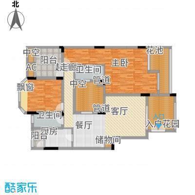 万科缇香郡120.15㎡三组团4号楼A面积12015m户型