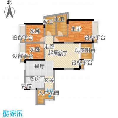 珠江太阳城96.36㎡A-8、A-9号楼面积9636m户型