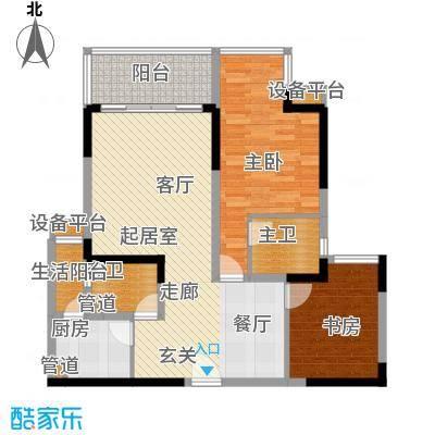 珠江太阳城86.10㎡A-1、A-2的2、面积8610m户型