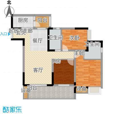 金科云湖天都94.83㎡岸香1号楼4面积9483m户型