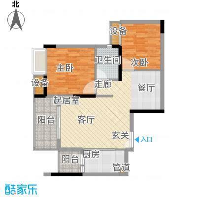 金科云湖天都83.26㎡8、9号楼2号面积8326m户型