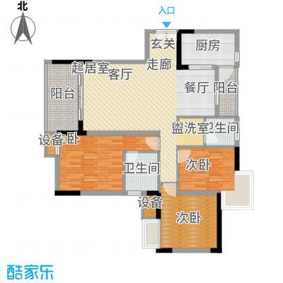 金科云湖天都116.07㎡8、9号楼1号面积11607m户型