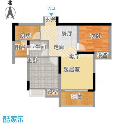 金科云湖天都59.33㎡5、6、7号楼面积5933m户型