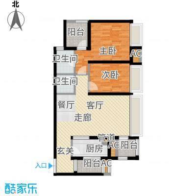 龙湖悠山香庭79.09㎡一期25号楼面积7909m户型
